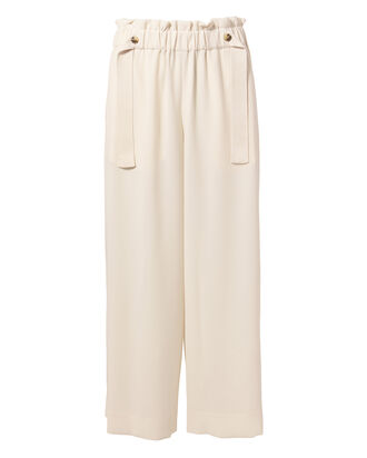 Cinched Waist Culottes, IVORY, hi-res