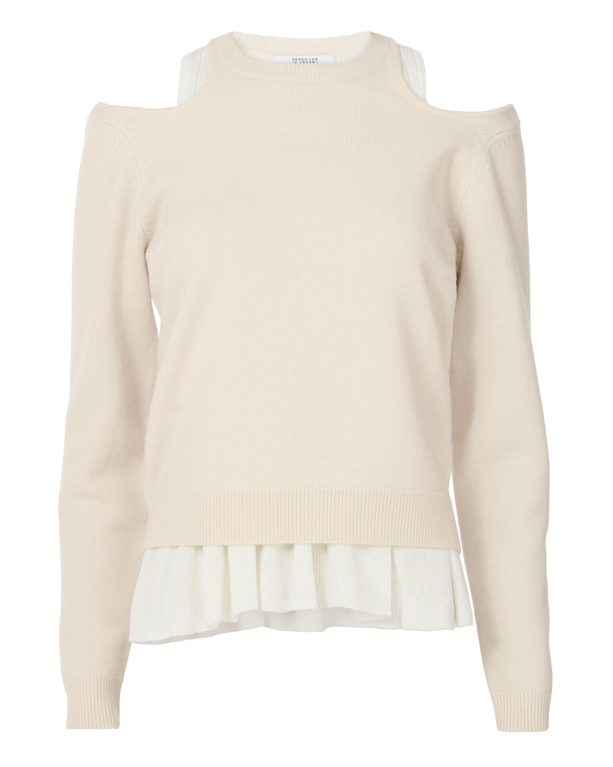 Layered Tank Pleated Sweater, BLUSH/NUDE, hi-res