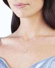 Moon And Star Diamond Necklace, METALLIC, hi-res