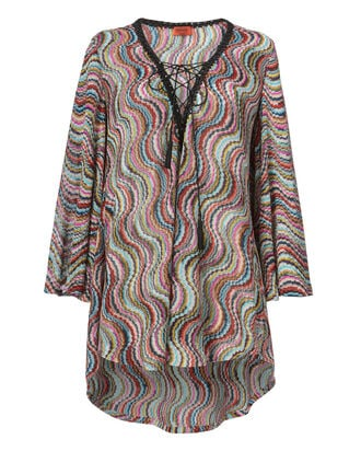Multicolor Short Kaftan, CBK-PURPLE, hi-res
