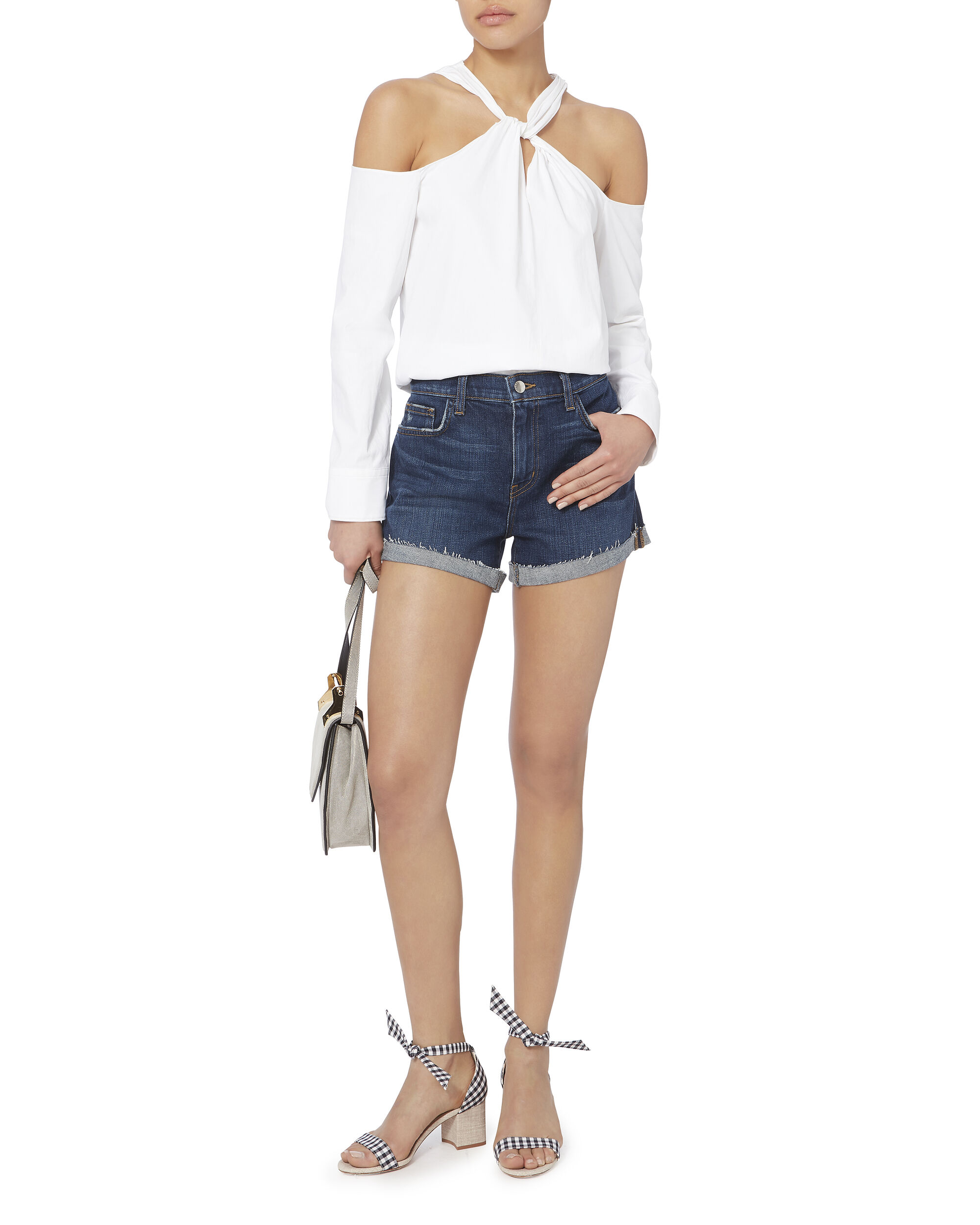 Crystal Cove Fold-Back Denim Shorts, DENIM, hi-res