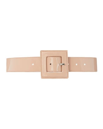 Annie Patent Leather Belt, BLUSH, hi-res