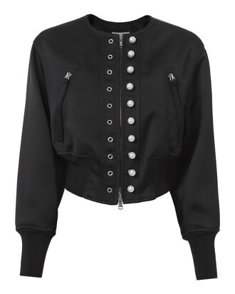 Navy Pearl Bomber Jacket, NAVY, hi-res