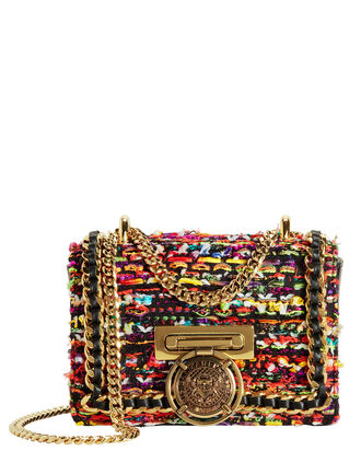 Multicolor Tweed And Leather Box Bag, MULTI, hi-res