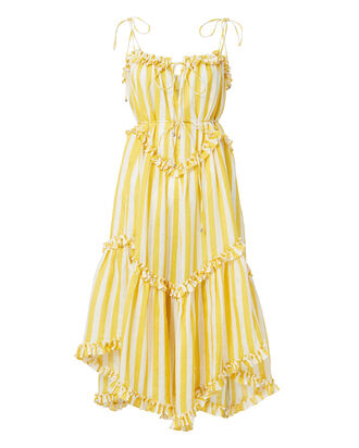 Yellow-striped Dress