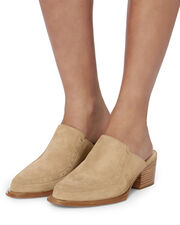 Weiss Studded Suede Mules, BEIGE/KHAKI, hi-res