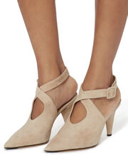 Ana Buckled Strap Suede Pumps, BLUSH/NUDE, hi-res