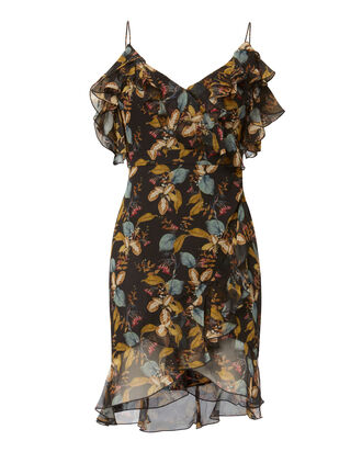 Ava Floral Wrap Mini Dress, PRINT, hi-res