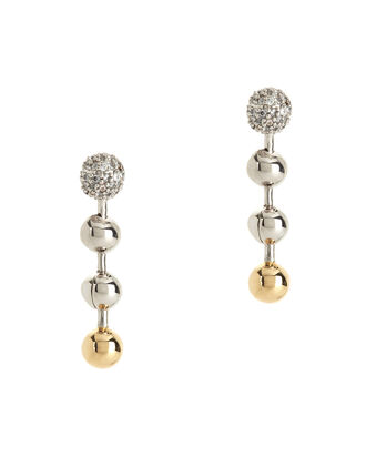 Short Ball Chain Drop Earrings, MULTI, hi-res