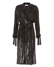 Holloway Sequin Trench Jacket, BLACK, hi-res
