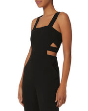 Zoe Side Cutouts Jumpsuit, BLACK, hi-res