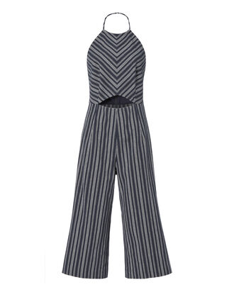 Elena Striped Cropped Jumpsuit, PATTERN, hi-res