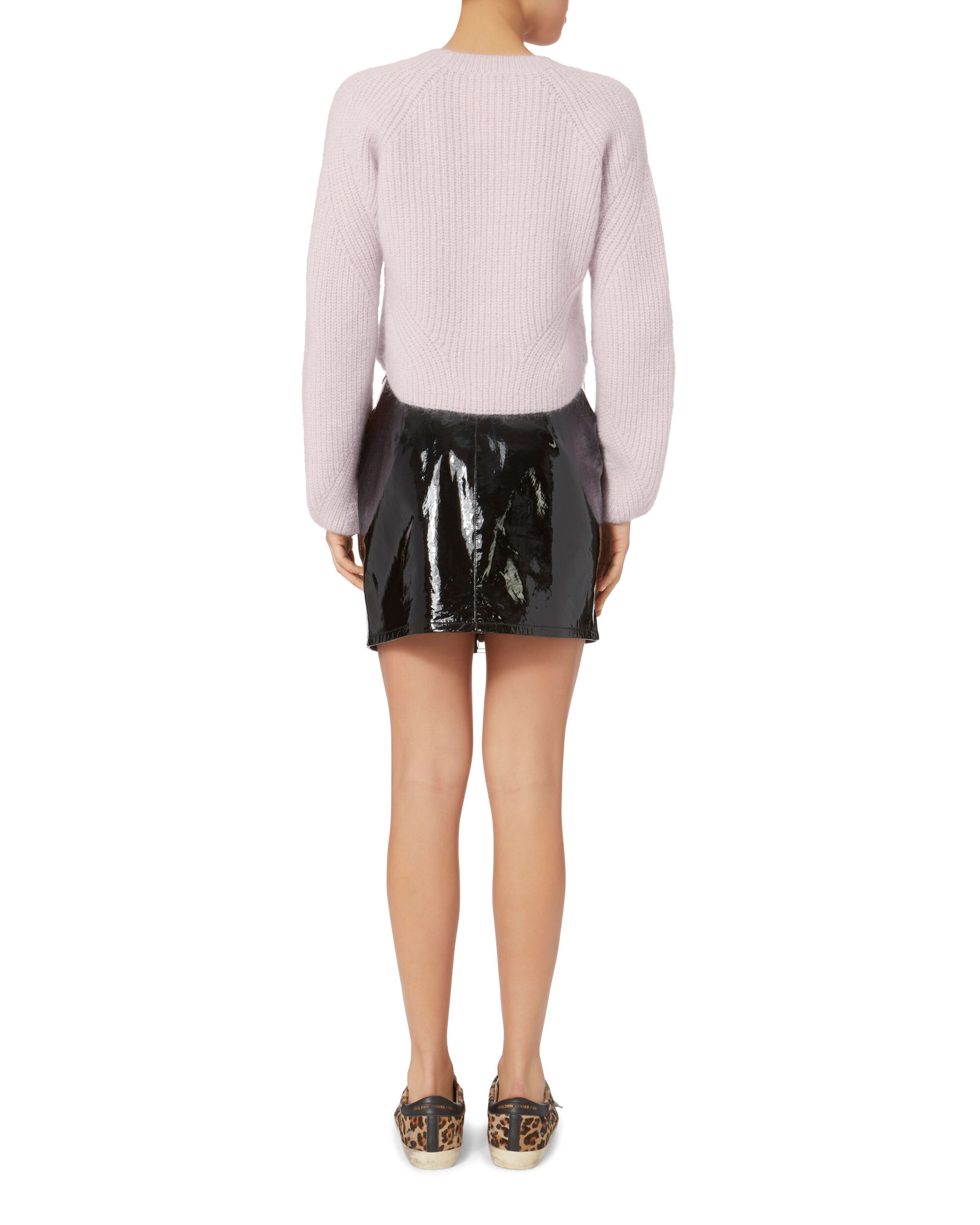 Luella Cropped Pullover Sweater, PURPLE-LT, hi-res