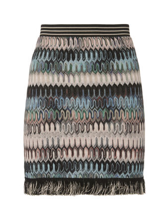 Fringe Wave Knit Skirt, MULTI, hi-res