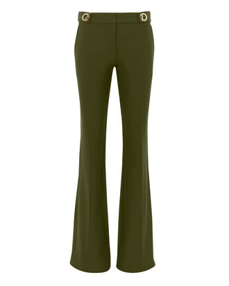 Grommet Detail Flare Trousers, , hi-res