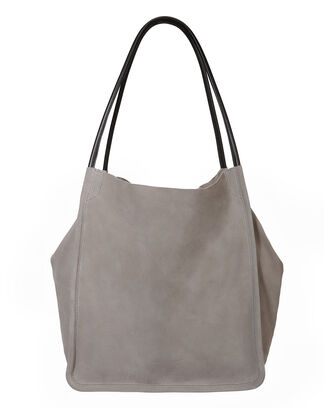 Suede Extra Large Tote, BEIGE, hi-res
