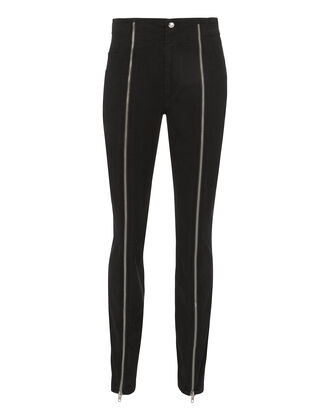 Zander Zip Front Pants, BLACK, hi-res