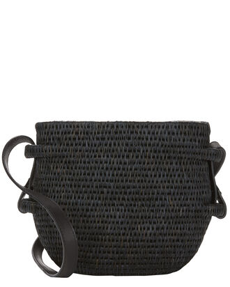 Thembi Black Bucket Bag, BLACK, hi-res