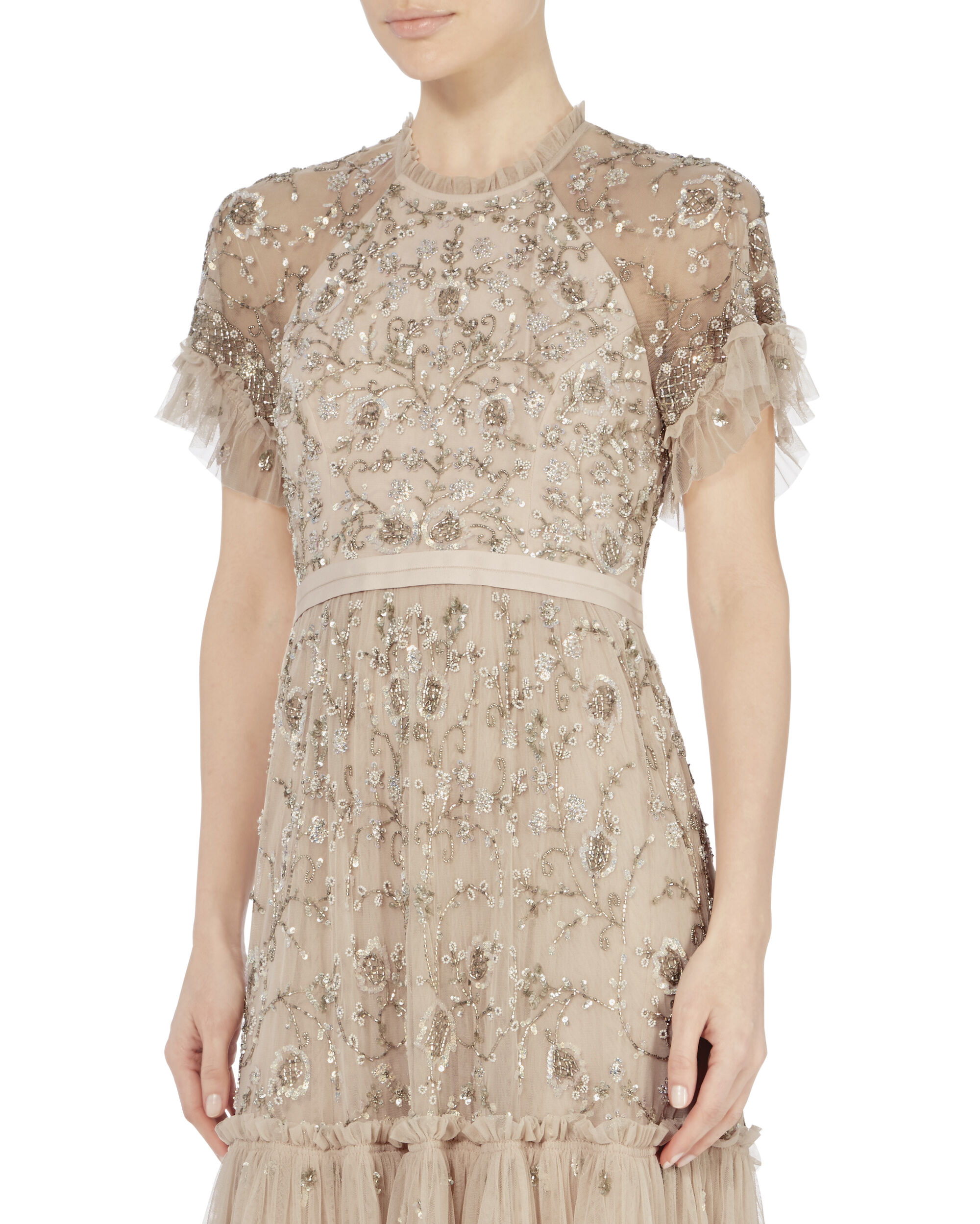 Constellation Lace Dress, PINK, hi-res