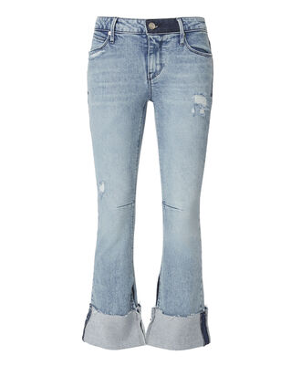 Duchess Cuffed Flare Jeans, DENIM, hi-res