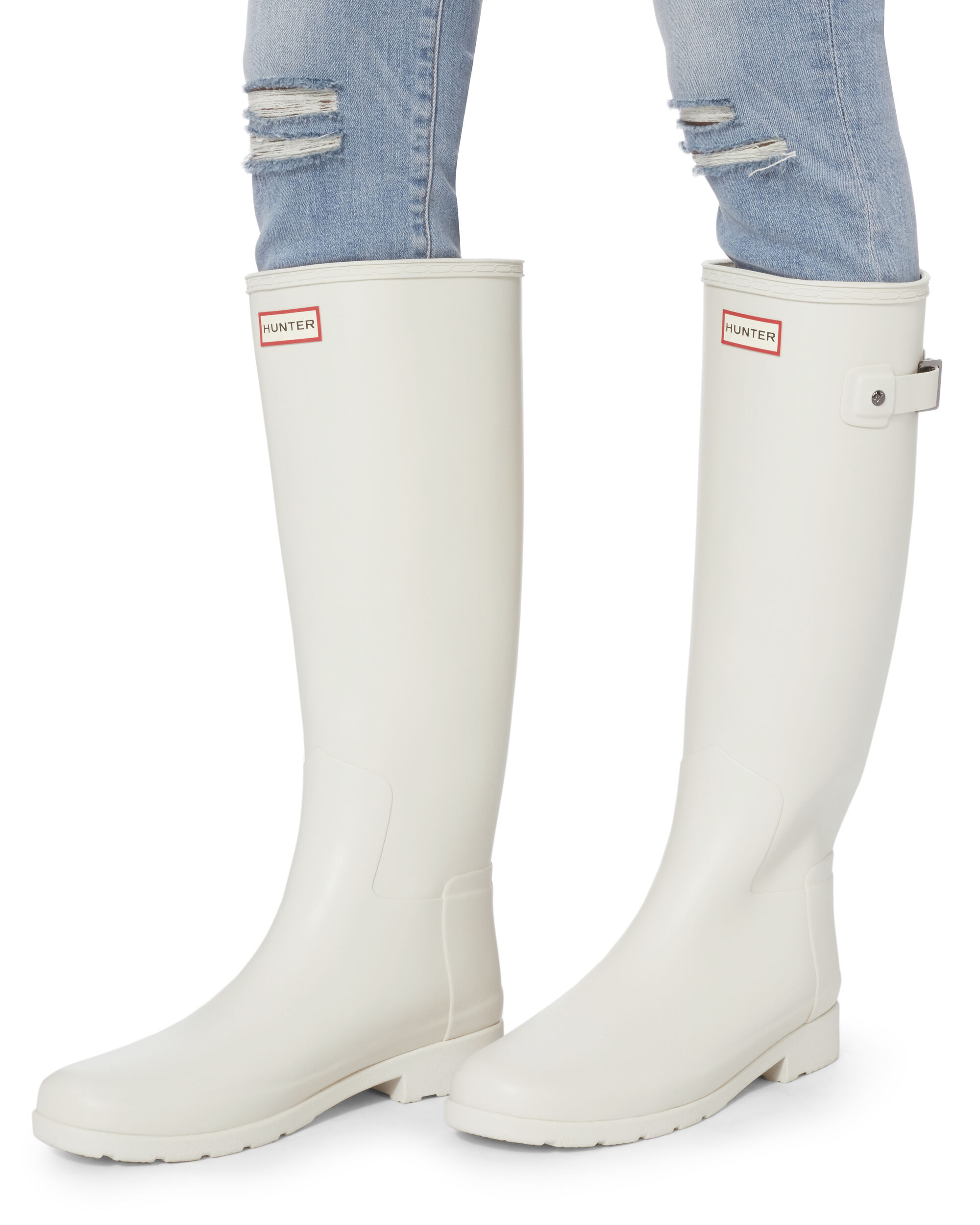 Original Refined Tall Wellington Boots, WHITE, hi-res
