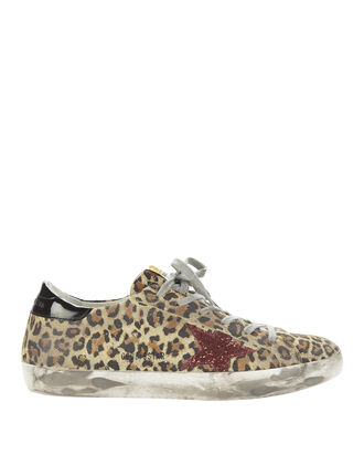 Superstar Leopard Red Glitter Sneakers, PRI-ANIMAL, hi-res