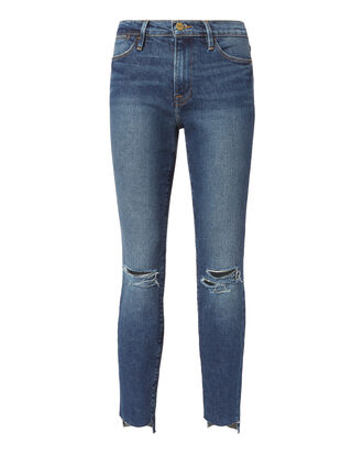 Le High Ripped Knee Skinny Jeans, DENIM-DRK, hi-res