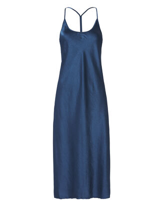 Racerback Slip Dress, BLUE, hi-res