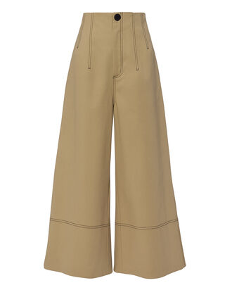 Bacall Wide Leg Trousers, BEIGE, hi-res