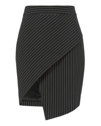 Asymmetrical Pinstripe Skirt, , hi-res