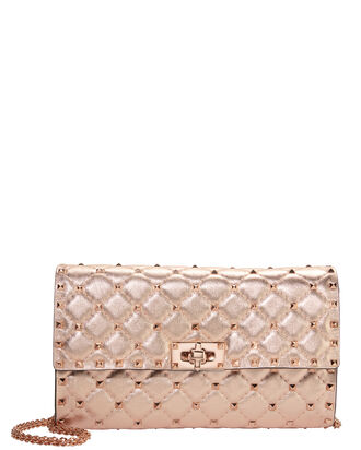 Rose Gold Rockstud Shoulder Bag, GOLD, hi-res