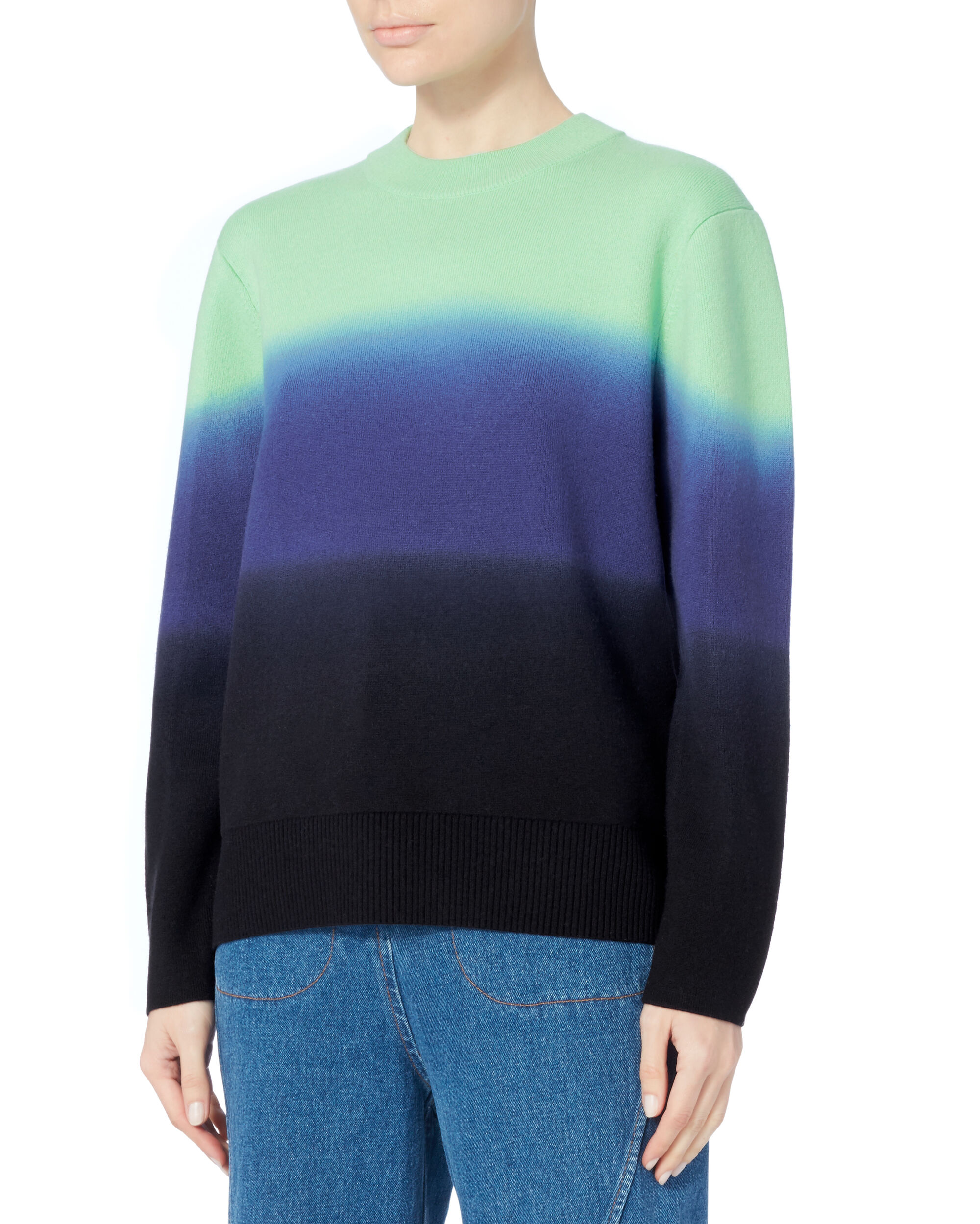 Ombre Wool-Cashmere Sweater, MULTI, hi-res