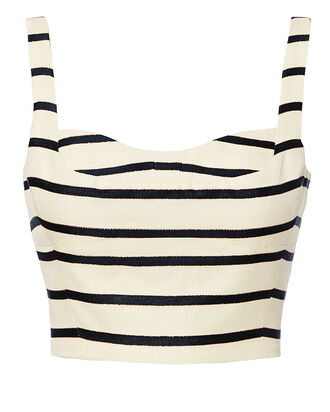 Gina Stripe Bustier Top, WHITE, hi-res