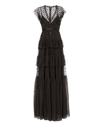 Mirage Embellished Gown, BLACK, hi-res