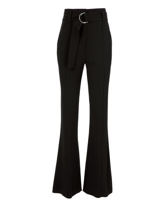 Foster Belted Wide Leg Pants, BLACK, hi-res