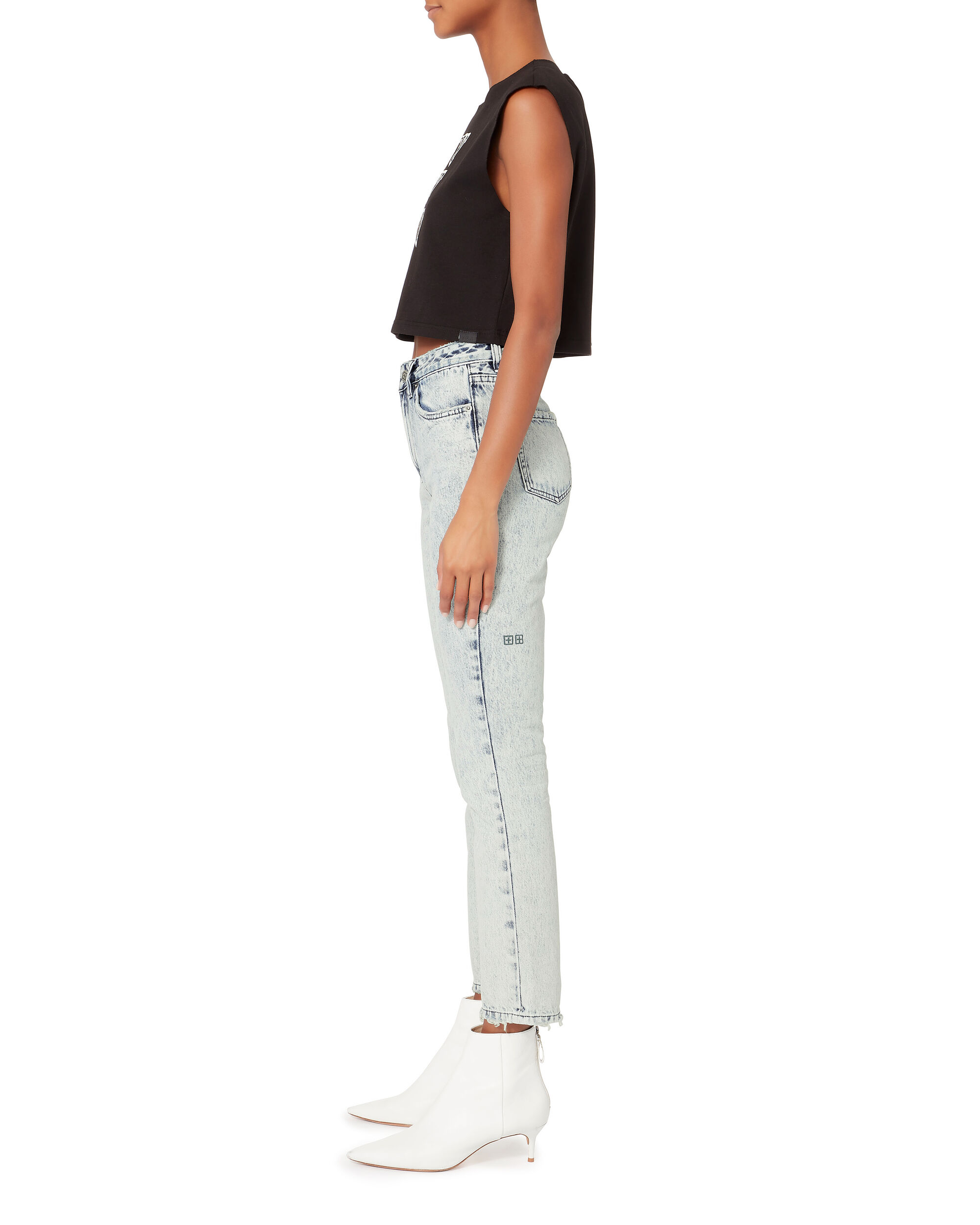 Slim Pin Dusted Acid Jeans, DENIM, hi-res