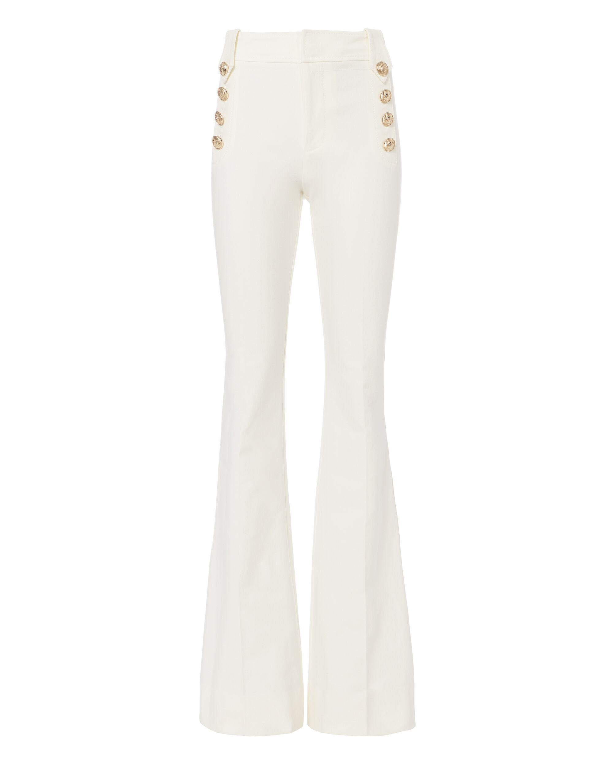 Flare Sailor White Trousers, WHITE, hi-res