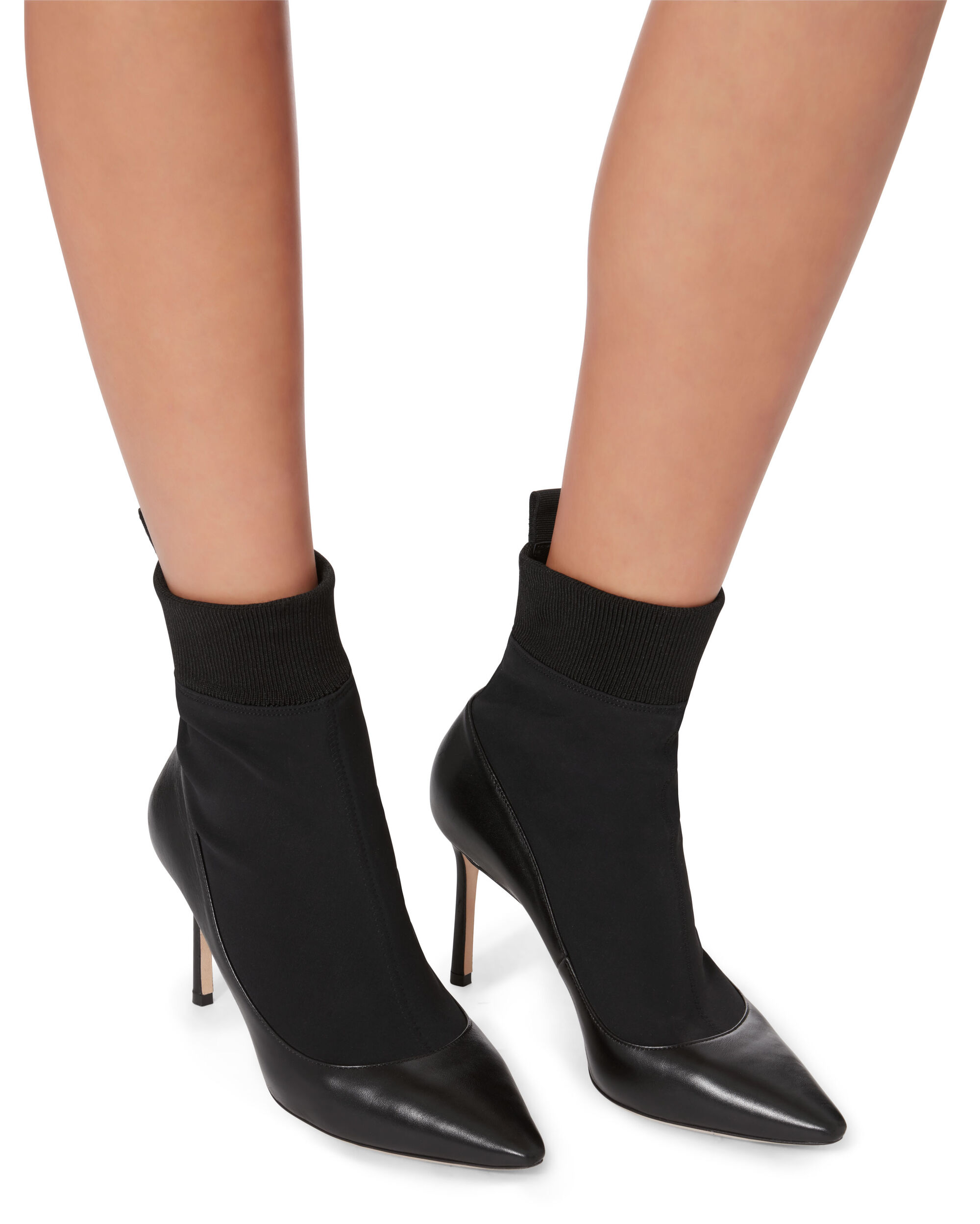 Brandon Sock Booties, BLACK, hi-res