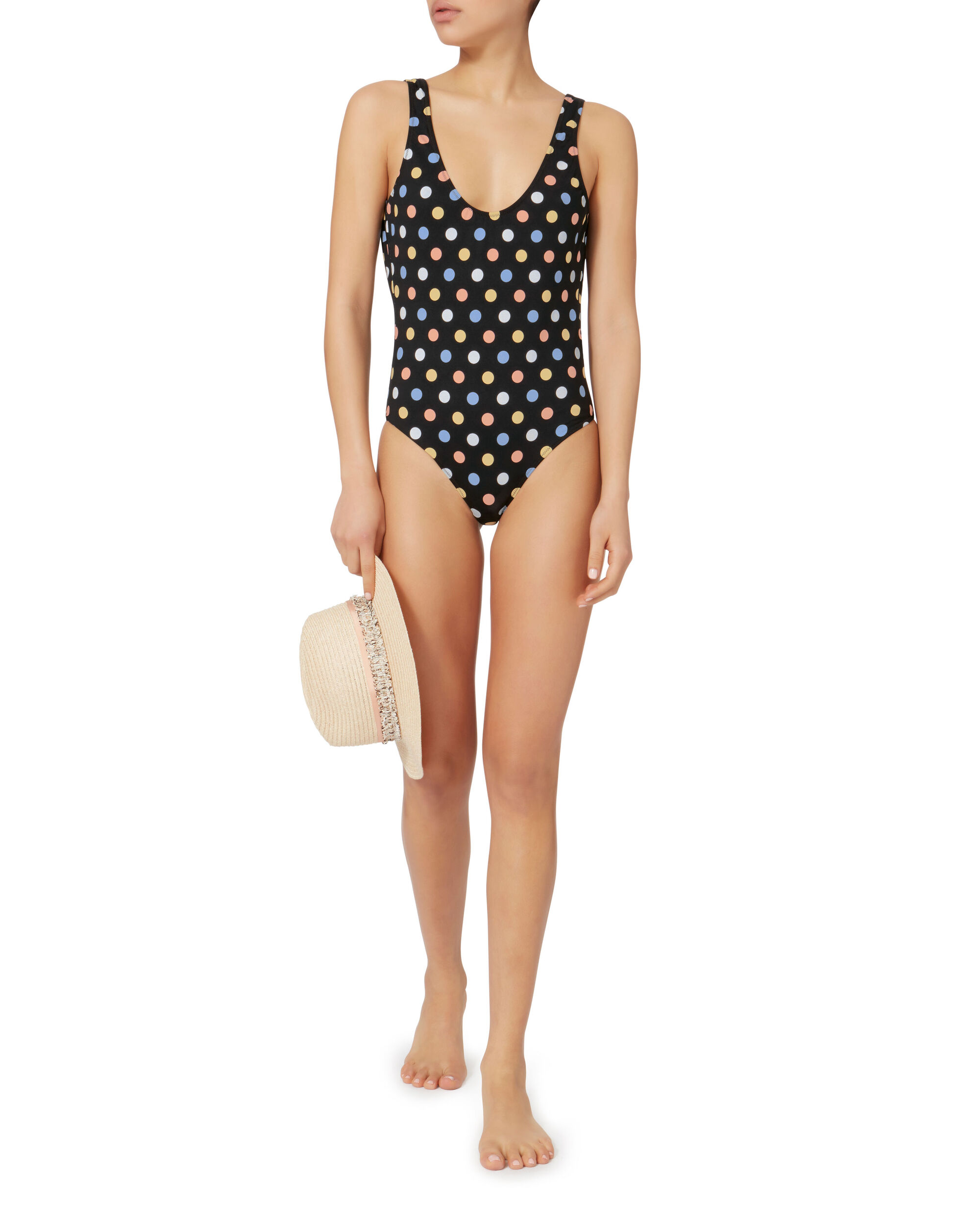 Clio Polka Dot One Piece Swimsuit, PRINT, hi-res