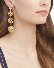 Tiered Pineapple Earrings, GOLD, hi-res