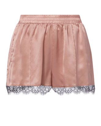 Margot Lace Trim Rose Silk Shorts, BLUSH, hi-res