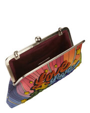 Love To Love Rainbow Clutch, PRINT, hi-res