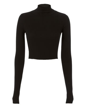 Melbourne Cropped Turtleneck, BLACK, hi-res
