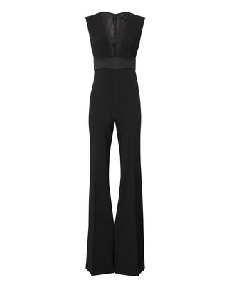 Rhodes Deep-V Jumpsuit, BLACK, hi-res