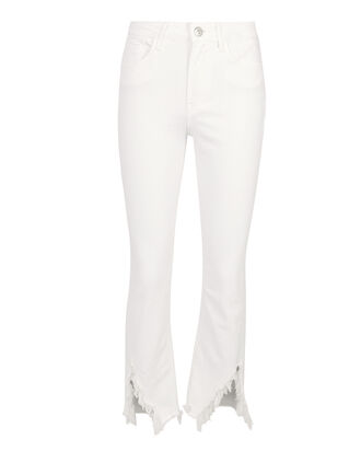 Higher Ground Slash Crop Jeans, WHITE, hi-res