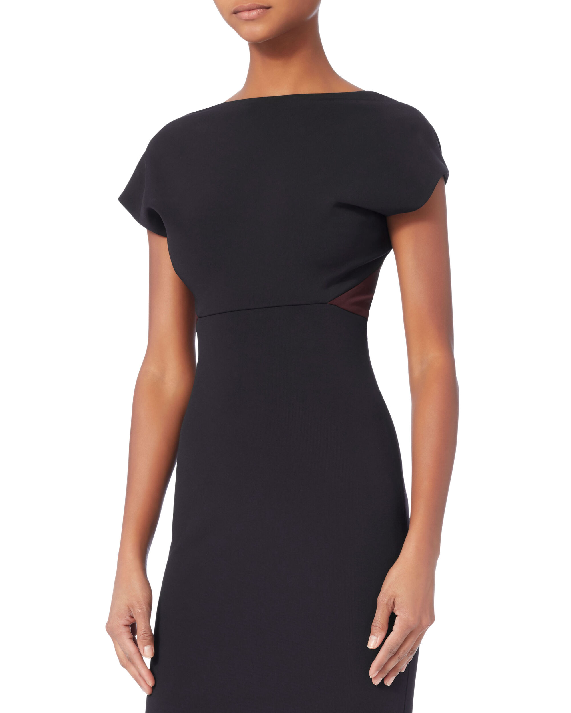 Backless Fitted Midi Dress, NAVY, hi-res