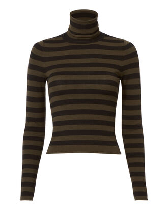 Lincoln Stripe Turtleneck Crop Top, STRIPE, hi-res