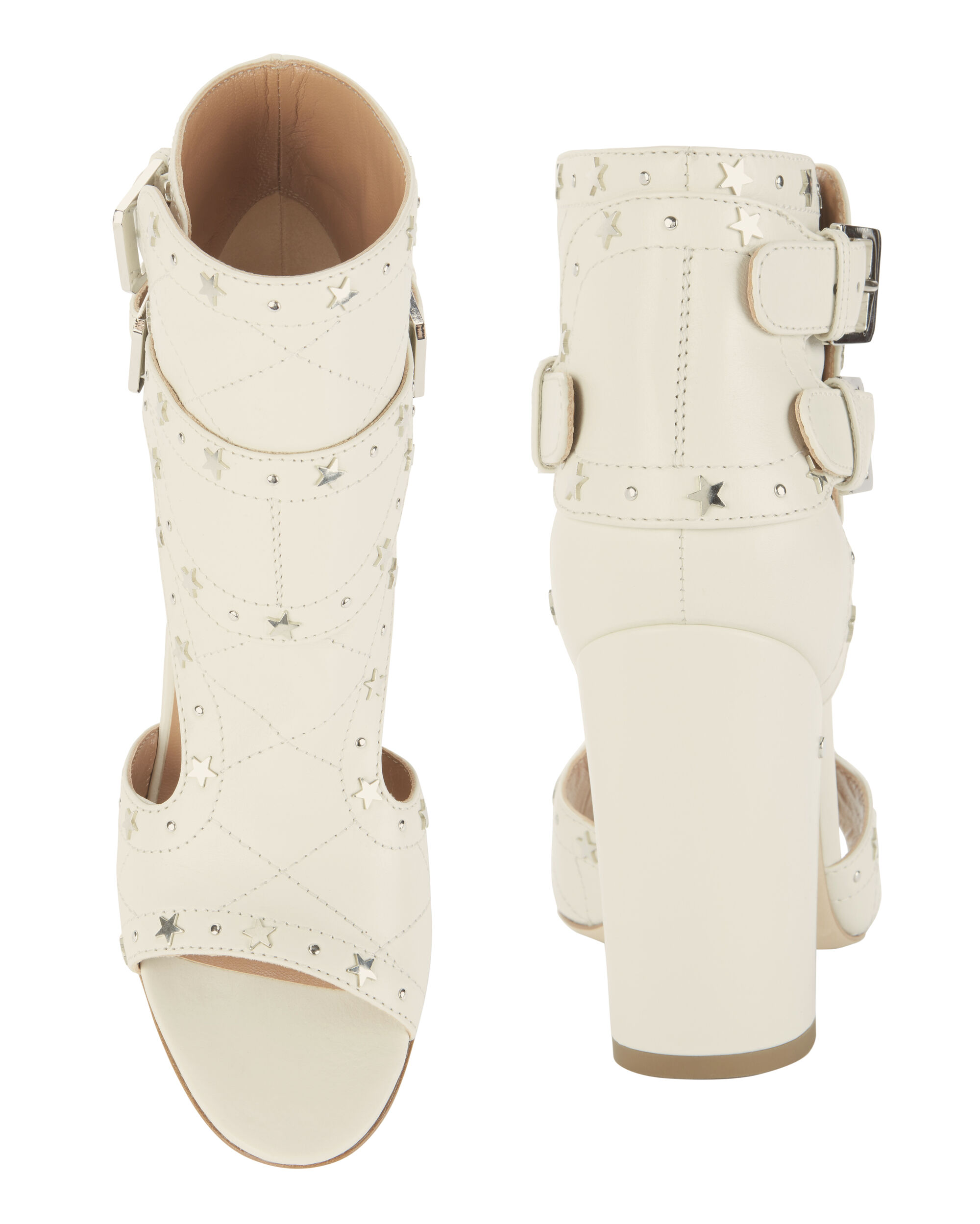 Rush Silver Stars Buckled Sandals, WHITE, hi-res
