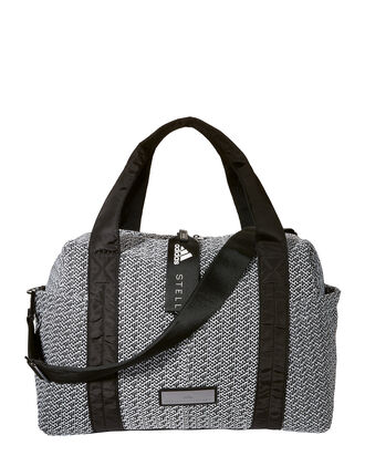 Knit Duffle Bag, WHITE, hi-res