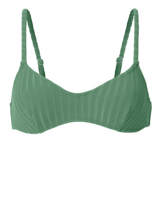 Rachel Emerald Rib Bikini Top, GREEN, hi-res